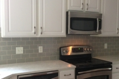 new counter top and back splash